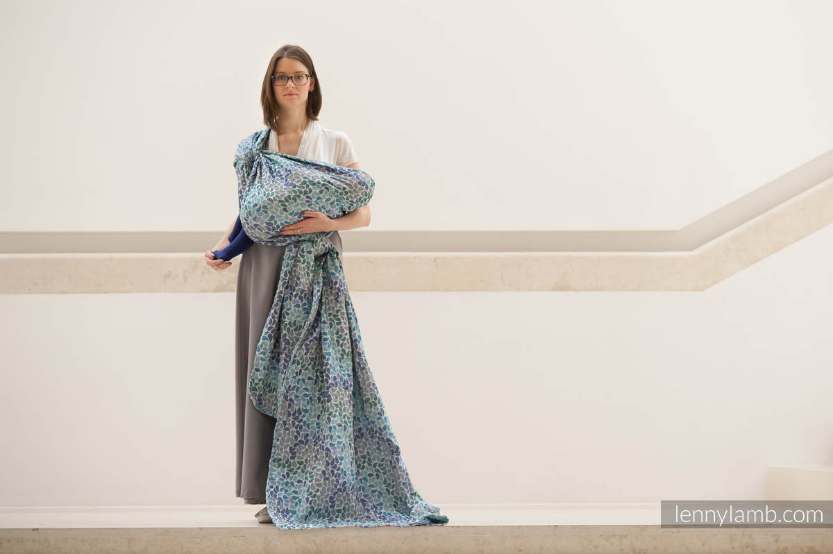 Baby Wrap, Jacquard Weave (100% cotton) - COLORS OF HEAVEN - size XL #babywearing
