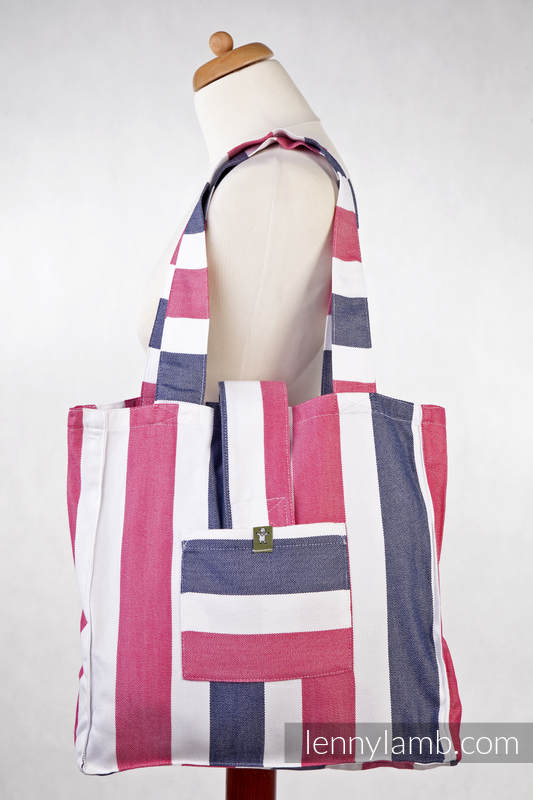 Shoulder bag made of wrap fabric (60% cotton, 40% bamboo) - MARINE - standard size 37cmx37cm #babywearing