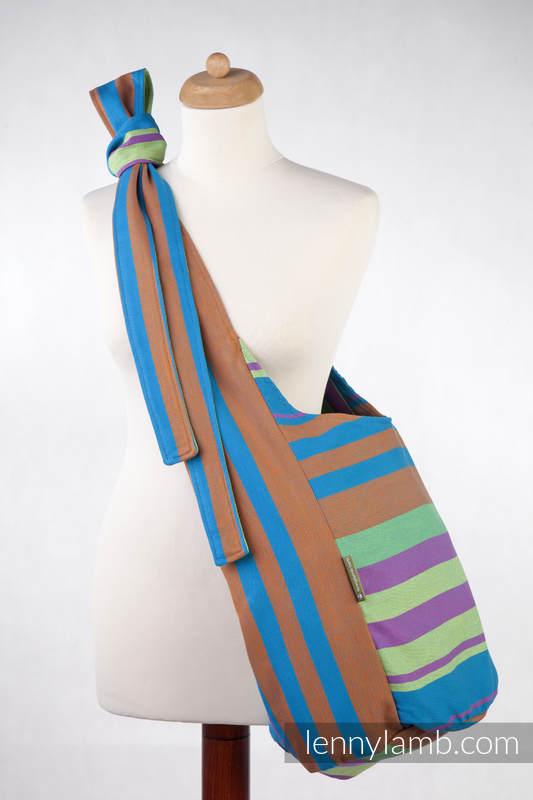 Hobo Bag made of woven fabric, 100% cotton - ZUMBA BLUE (grade B) #babywearing