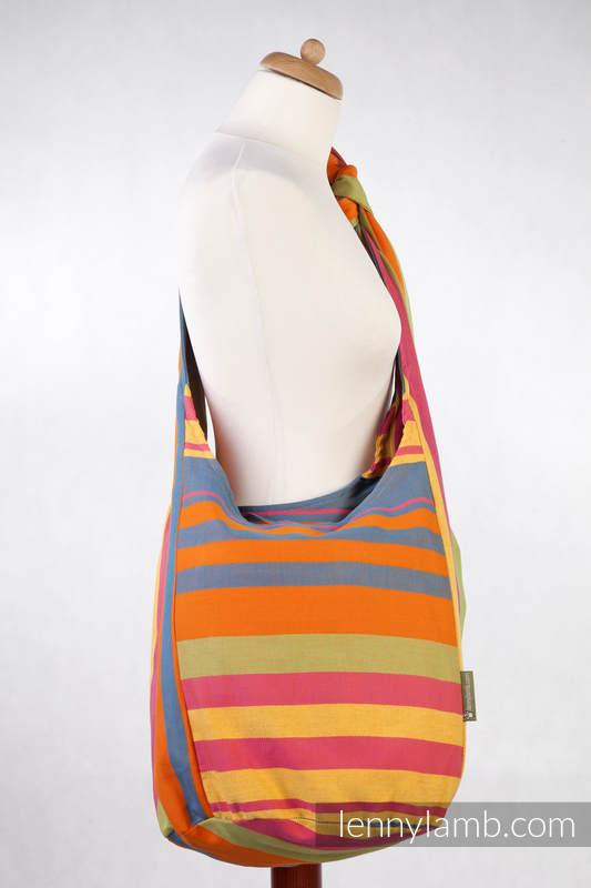 Hobo Bag Made Of Woven Fabric 100 Cotton Zumba Orange Babywearing