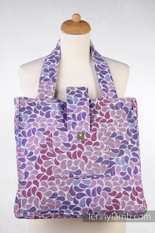 Shoulder bag made of wrap fabric (100% cotton) - COLORS OF FANTASY - standard size 37cmx37cm #babywearing