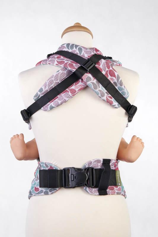 Nosidełko Ergonomiczne z tkaniny żakardowej 100% bawełna , Baby Size, KOLORY PRZYJAŹNI - Druga Generacja #babywearing