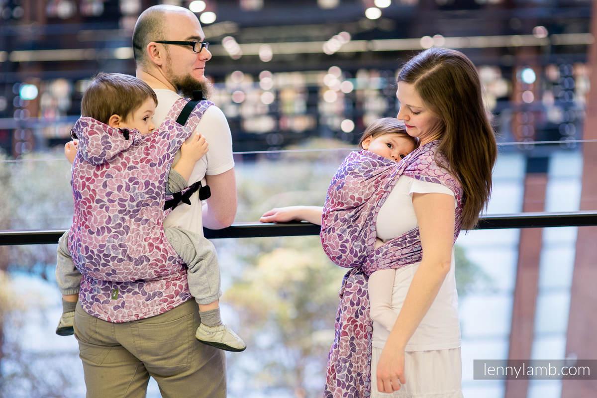 Ergonomische Tragehilfe, Größe Baby, Jacquardwebung, 100% Baumwolle - COLORS OF FANTASY - Zweite Generation #babywearing
