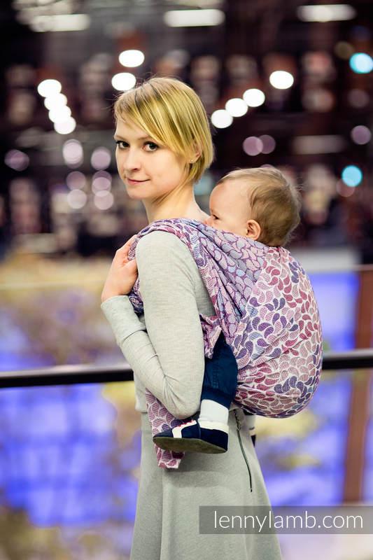 Bandolera de anillas, tejido Jacquard (100% algodón) - COLORS OF FANTASY - standard 1.8m #babywearing