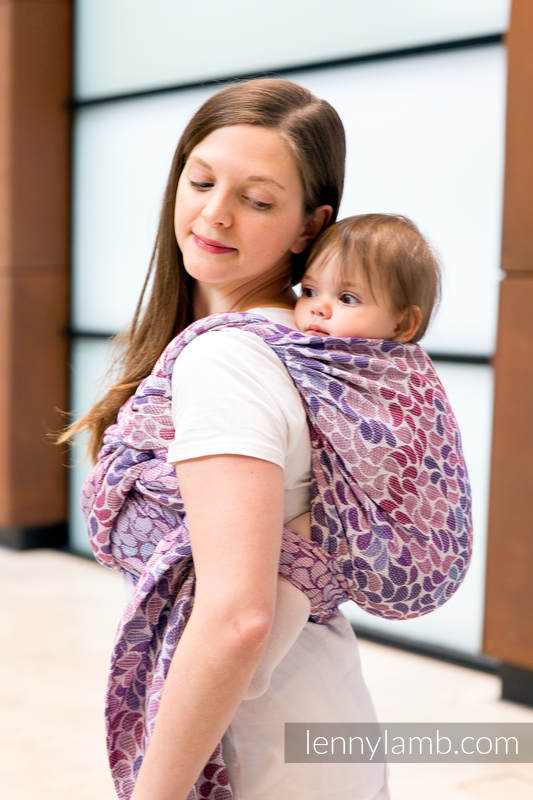 Baby Wrap, Jacquard Weave (100% cotton) - COLORS OF FANTASY - size XL #babywearing