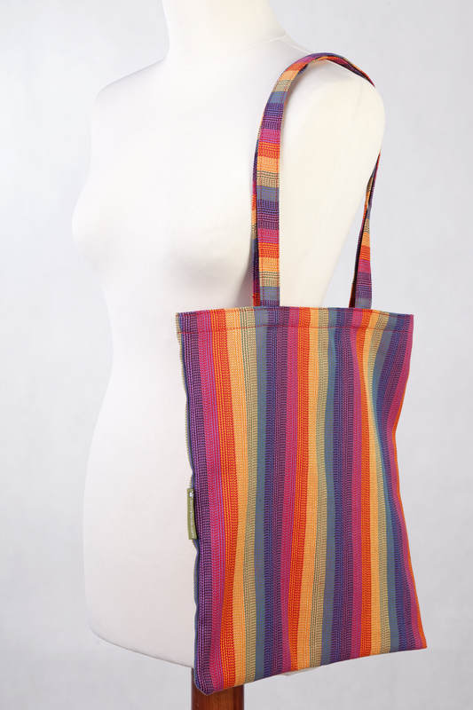 Bolsa de la compra hecho de tejido de fular (60% algodón, 40% viscosa de bambú) - SUNSET RAINBOW #babywearing