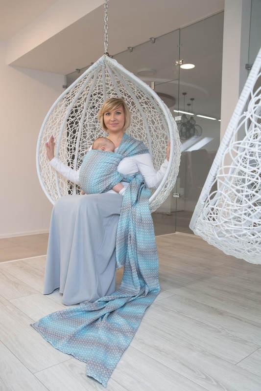 Baby Wrap, Jacquard Weave (100% cotton) - LITTLE LOVE - BREEZE - size XL #babywearing