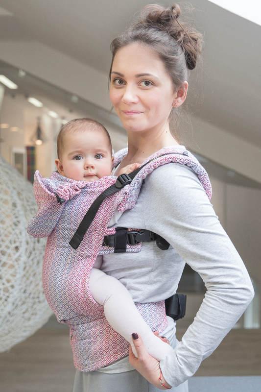 Nosidełko Ergonomiczne z tkaniny żakardowej 100% bawełna , Toddler Size, LITTLE LOVE - MGIEŁKA, Druga Generacja #babywearing