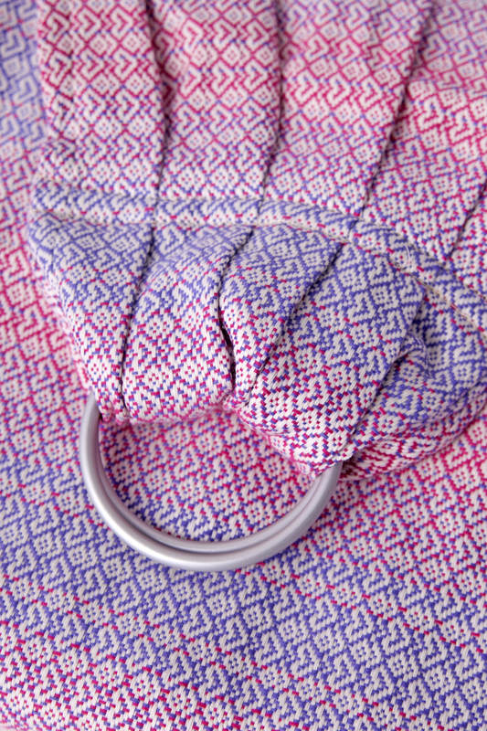Ringsling, Jacquard Weave (100% cotton) - LITTLE LOVE - HAZE #babywearing
