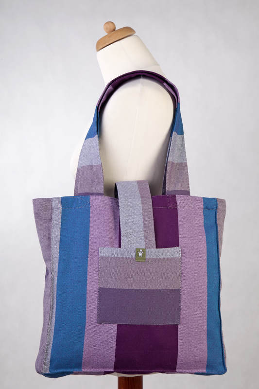 Bolso hecho de tejido de fular (100% algodón) - NORWEGIAN DIAMOND - talla estándar 37 cm x 37 cm #babywearing
