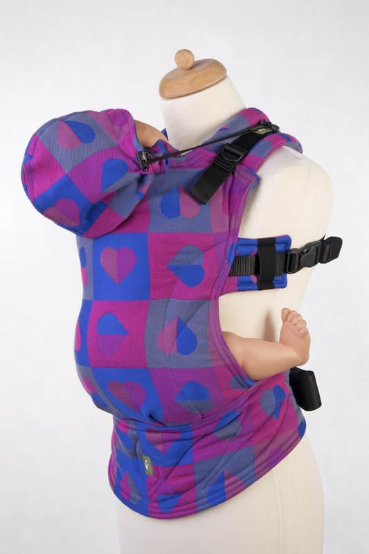 Nosidełko Ergonomiczne z tkaniny żakardowej 100% bawełna , Toddler Size, BICIE SERCA - CHLOE, Druga Generacja (drugi gatunek) #babywearing