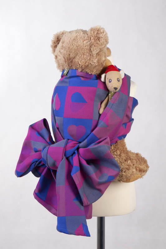 Żakardowa chusta dla lalek, 100% bawełna - BICIE SERCA - CHLOE (drugi gatunek) #babywearing