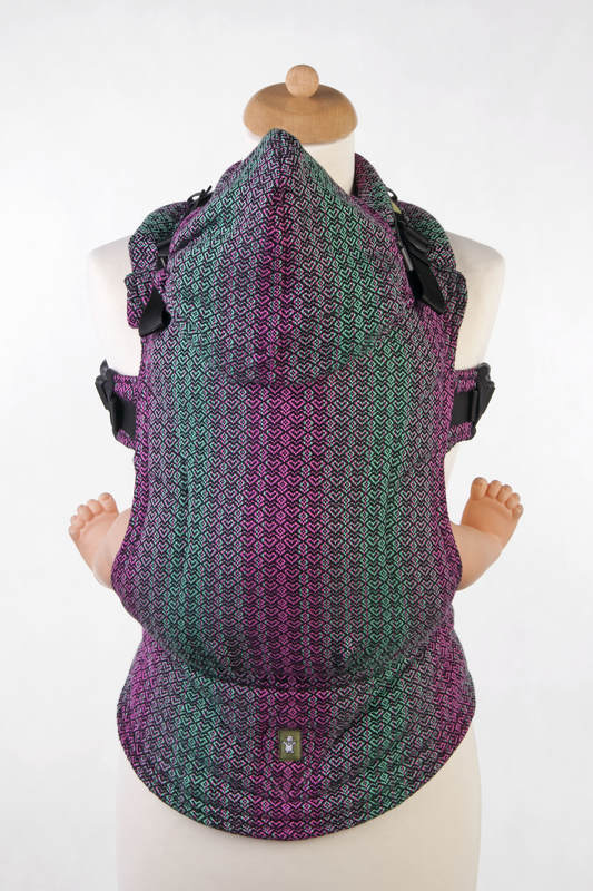 Ergonomic Carrier, Toddler Size, jacquard weave 100% cotton - wrap conversion from LITTLE LOVE - ORCHID, Second Generation #babywearing