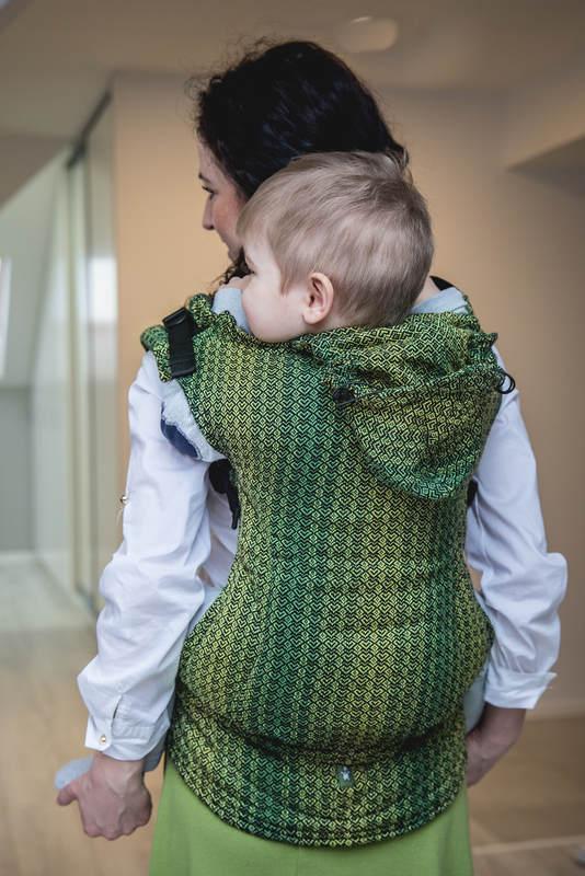 Ergonomic Carrier, Toddler Size, jacquard weave 100% cotton - LITTLE LOVE - LEMON TREE, Second Generation #babywearing
