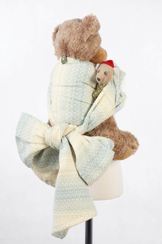 Doll Sling, Jacquard Weave, 100% cotton - LITTLE LOVE - GOLDEN TULIP #babywearing