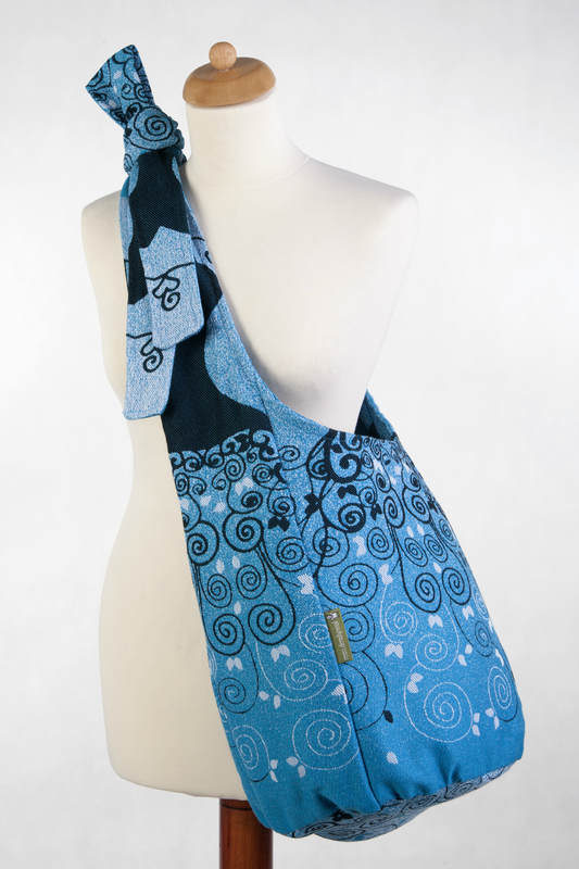 Hobo Bag made of woven fabric, 100% cotton - BLUE PRINCESSA (grade B) #babywearing