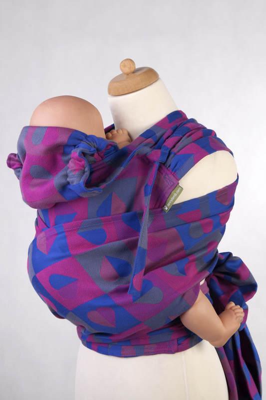 WRAP-TAI carrier Mini with hood/ jacquard twill / 100% cotton / HEARTBEAT - CHLOE #babywearing