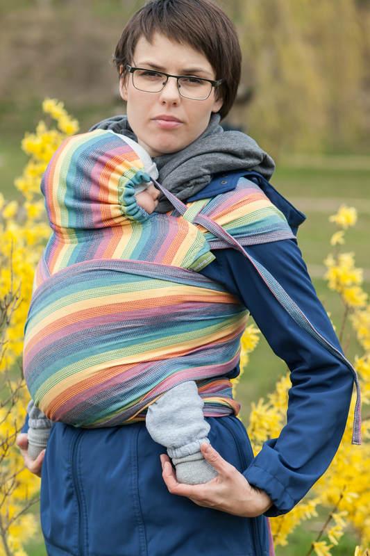 WRAP-TAI portabebé Toddler, sarga cruzada - 100% algodón - con capucha, LUNA #babywearing