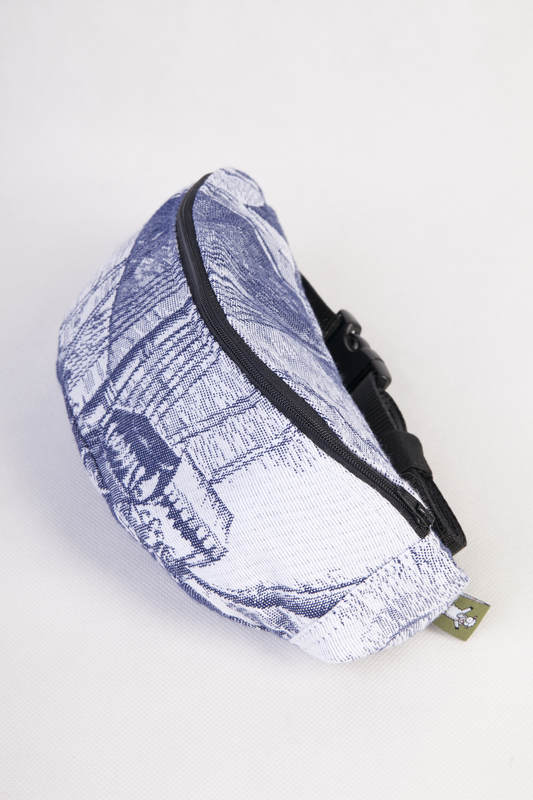 Waist Bag made of woven fabric, (100% cotton) - GALLEONS NAVY BLUE & WHITE #babywearing