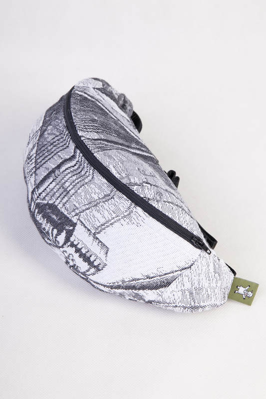 Waist Bag made of woven fabric, (100% cotton) - GALLEONS BLACK  & WHITE #babywearing