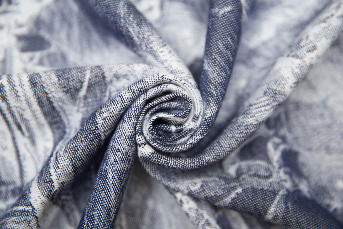 Baby Wrap, Jacquard Weave (100% cotton) - GALLEONS NAVY BLUE & WHITE - size XS #babywearing
