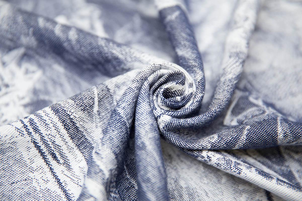 Baby Wrap, Jacquard Weave (100% cotton) - GALLEONS NAVY BLUE & WHITE - size XL #babywearing