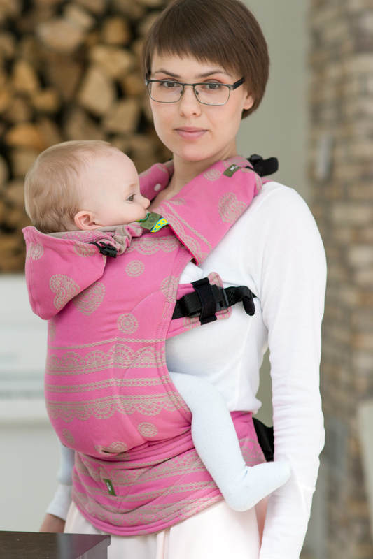 Ergonomic Carrier Baby Size Jacquard Weave 100 Cotton Wrap