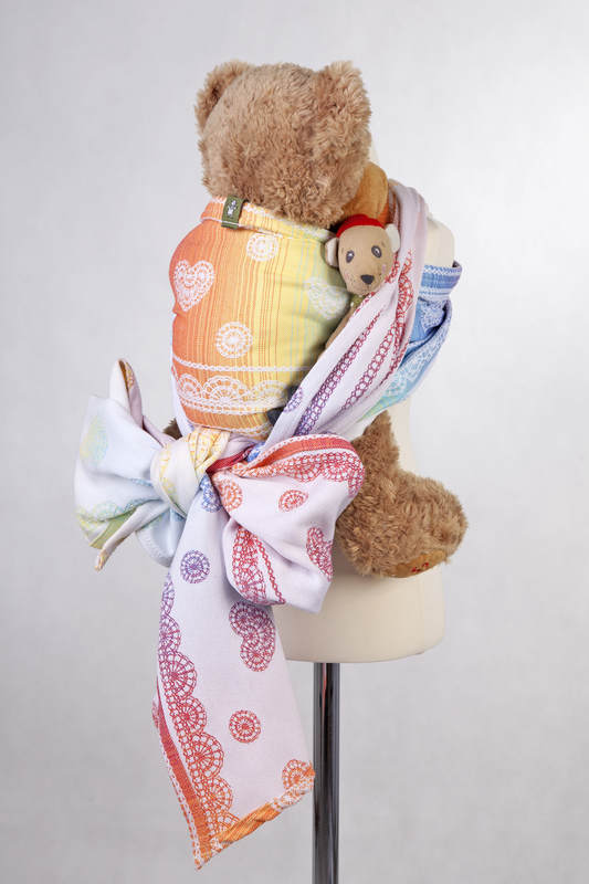 Doll Sling, Jacquard Weave, 100% cotton - RAINBOW LACE #babywearing