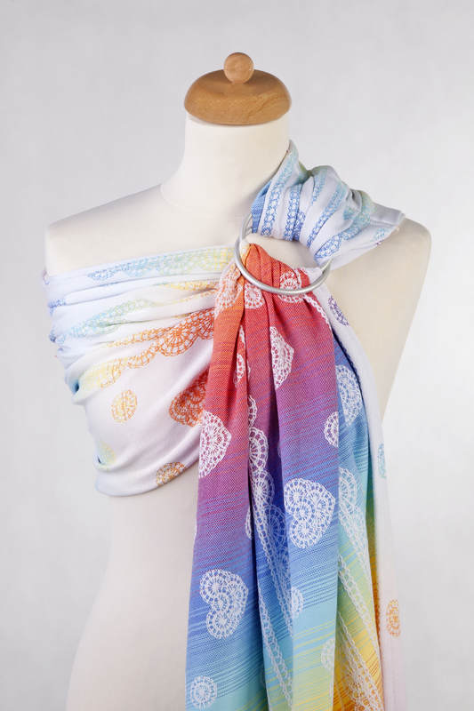 Ringsling, Jacquard Weave (100% cotton) - RAINBOW LACE Reverse  - long 2.1m #babywearing
