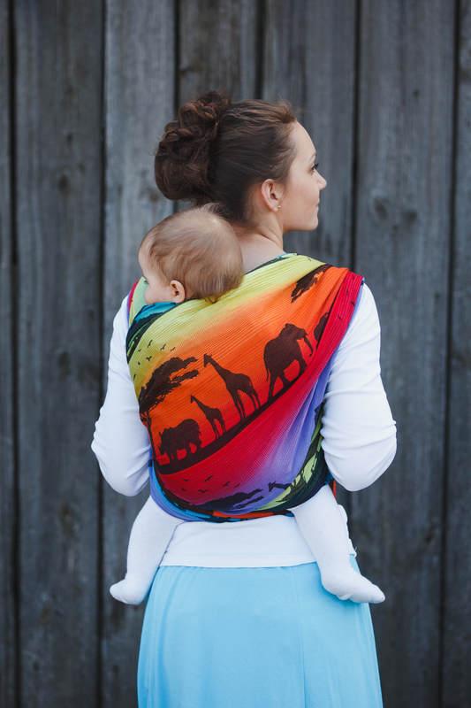 Baby Wrap Jacquard Weave 100 Cotton Rainbow Safari 2 0 Size S