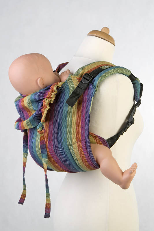 Lenny Buckle Onbuhimo baby carrier, standard size, broken-twill weave (60% cotton, 40% bamboo) - PARADISO #babywearing