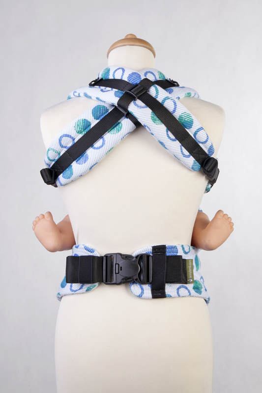 Ergonomic Carrier, Toddler Size, jacquard weave 100% cotton - wrap conversion from MOTHER EARTH Reverse - Second Generation #babywearing