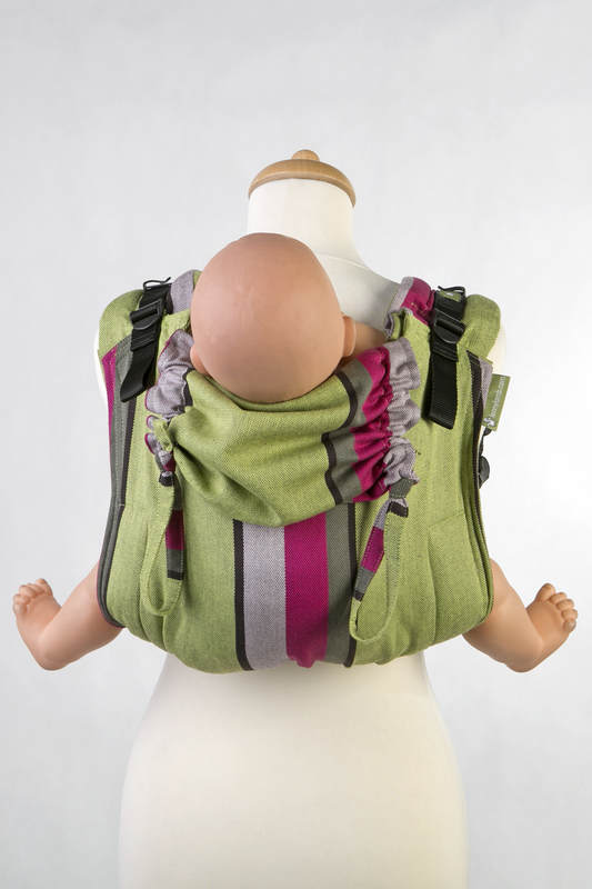 Lenny Buckle Onbuhimo, toddler size, broken-twill weave (100% cotton) - Wrap conversion from LIME & KHAKI #babywearing