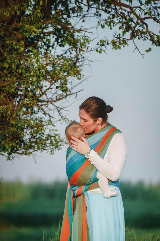 Baby Wrap, Herringbone Weave (100% cotton) - LITTLE HERRINGBONE LANTANA - size XL #babywearing