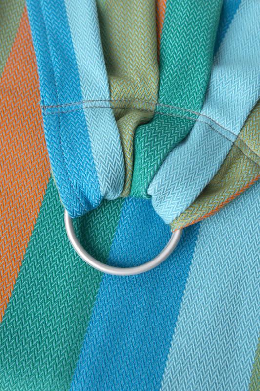 Ringsling, Jacquard Weave (100% cotton) - LITTLE HERRINGBONE SUNFLOWER - standard 1.8m #babywearing