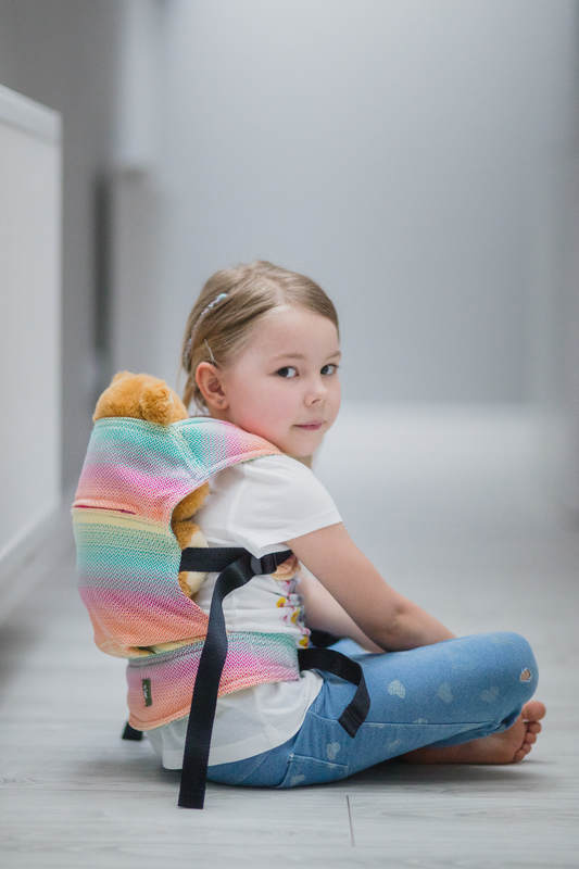 Doll Carrier made of woven fabric (100% cotton) - LITTLE HERRINGBONE IMAGINATION  #babywearing
