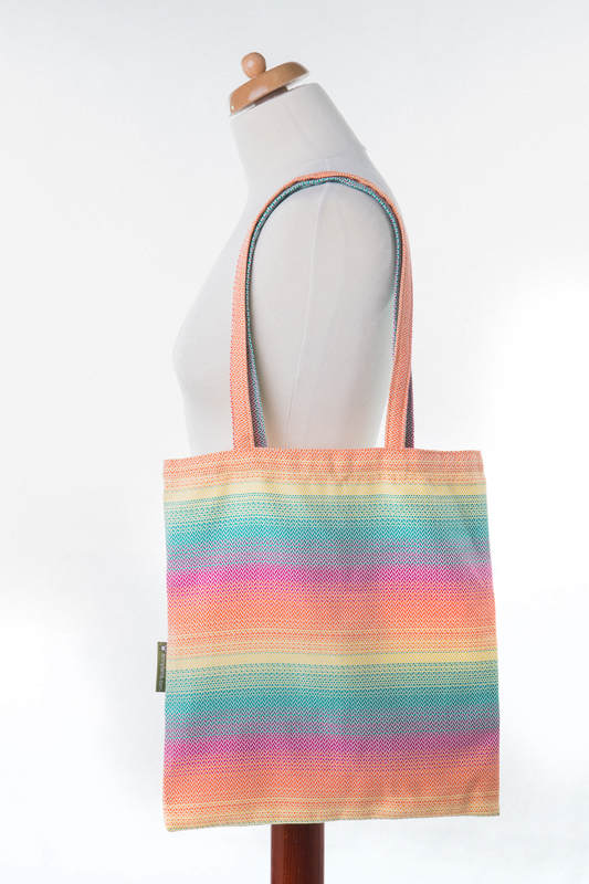 Shopping bag made of wrap fabric (100% cotton) - LITTLE HERRINGBONE IMAGINATION  #babywearing