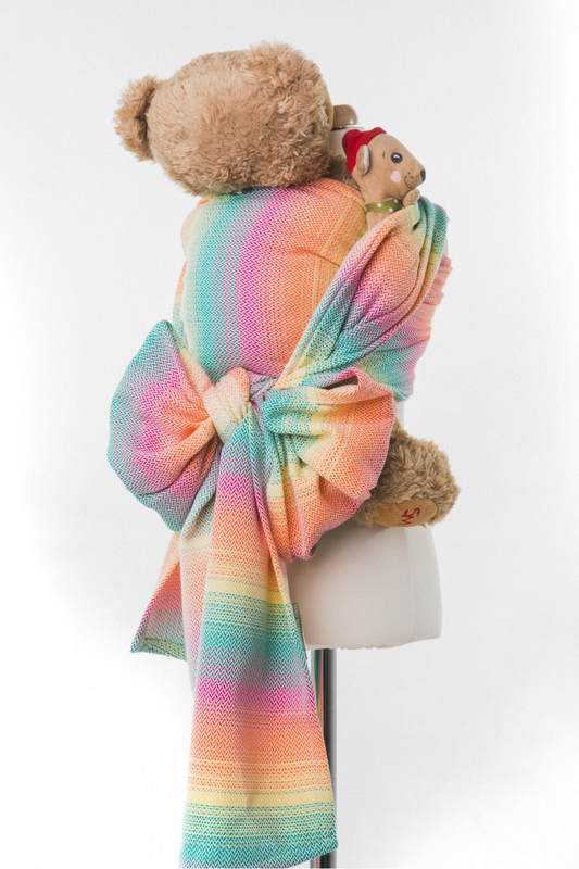 Doll Sling, Herringbone Weave, 100% cotton - LITTLE HERRINGBONE IMAGINATION #babywearing