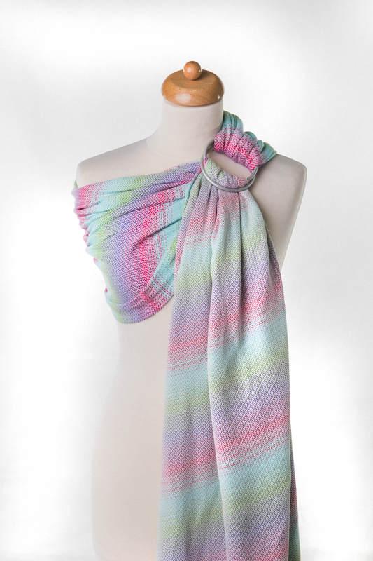 Ringsling, Herringbone Weave (100% cotton) - LITTLE HERRINGBONE IMPRESSION - long 2.1m #babywearing