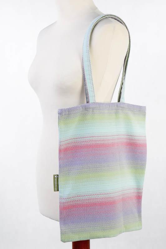 Shopping bag made of wrap fabric (100% cotton) - LITTLE HERRINGBONE IMPRESSION  #babywearing
