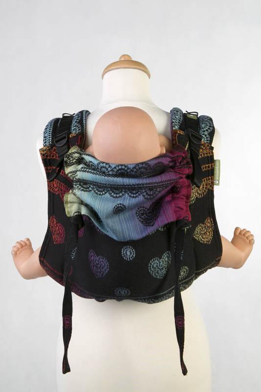 Lenny Buckle Onbuhimo Tragehilfe, Größe Standard, Jacquardwebung (100% Baumwolle) - RAINBOW LACE DARK REVERS #babywearing