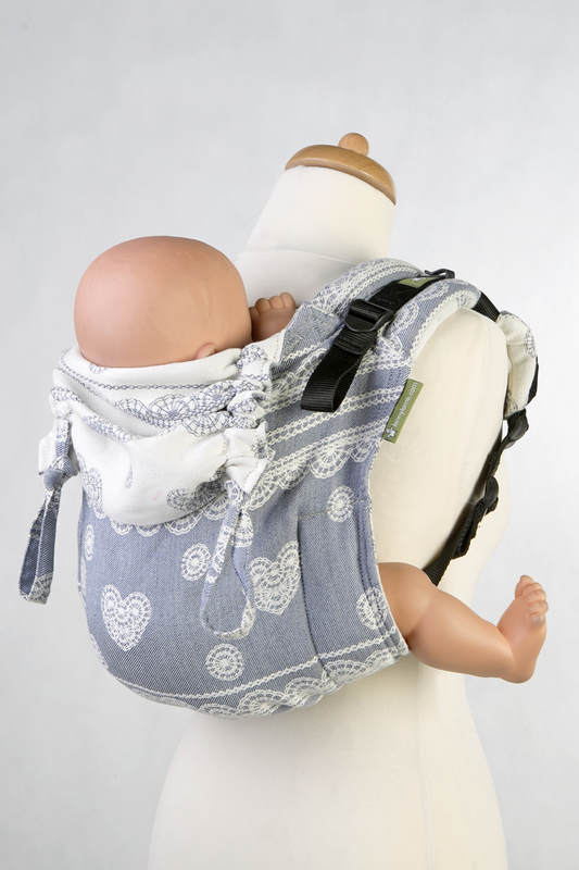 Lenny Buckle Onbuhimo Tragehilfe, Größe Standard, Jacquardwebung (60% Baumwolle, 28% Leinen, 12% Tussahseide) - ROYAL LACE #babywearing