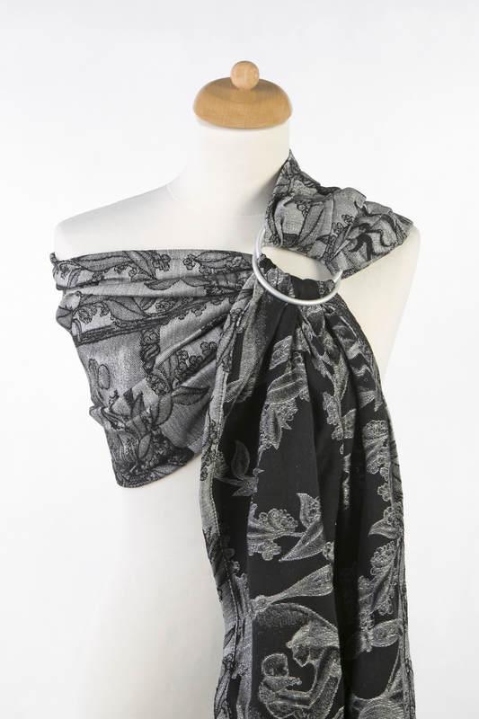 Ringsling, Jacquard Weave (60% cotton, 40% linen) - LINEN TIME (without skull) - long 2.1m #babywearing