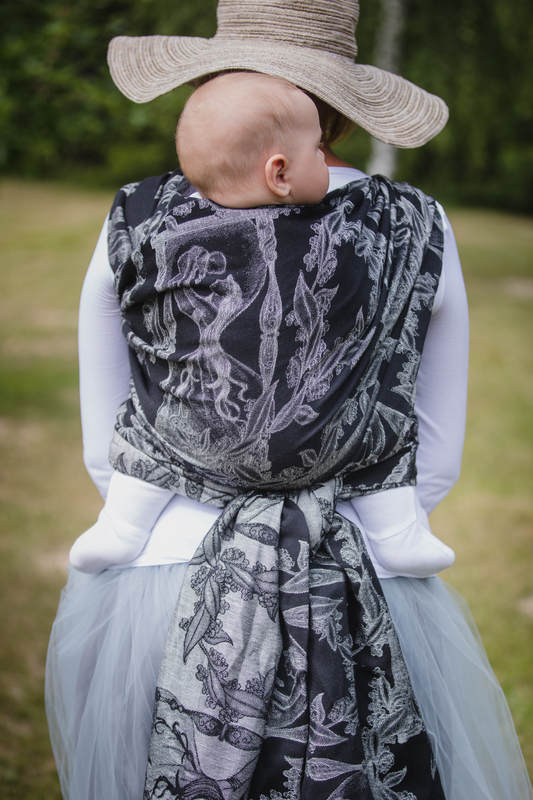 Baby Wrap, Jacquard Weave (60% cotton, 40% linen) - LINEN TIME (without skull) - size L (grade B) #babywearing