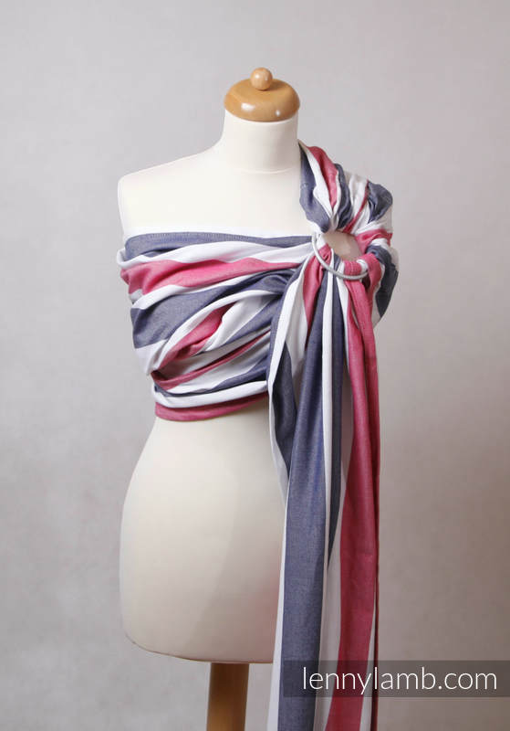 Ring Sling, Broken Twill Weave (bamboo + cotton), with gathered shoulder - Marine (grade B) #babywearing