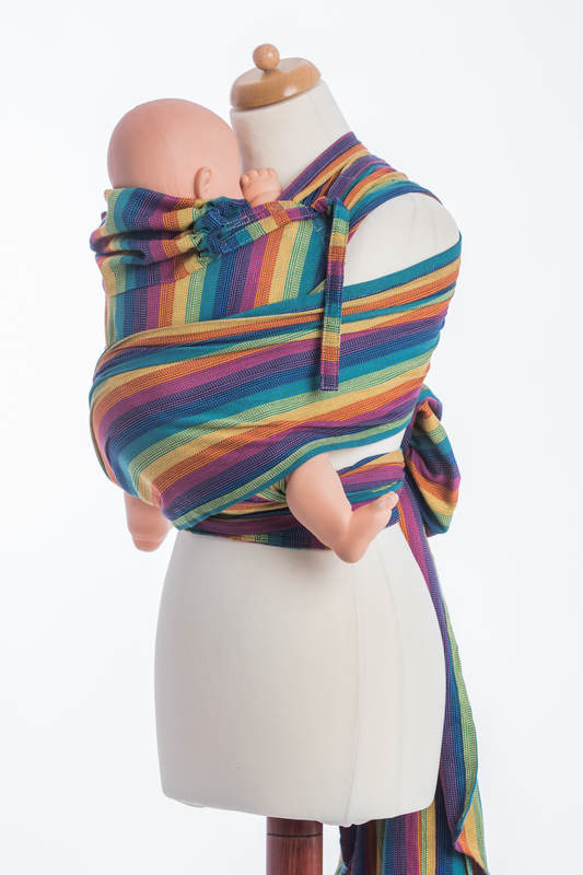 WRAP-TAI carrier TODDLER / broken twill / bamboo and cotton / with hood/ PARADISO #babywearing