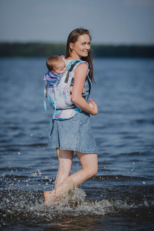 Lenny Buckle Onbuhimo, standard size, jacquard weave (100% cotton) - Wrap conversion from HIGH TIDE #babywearing