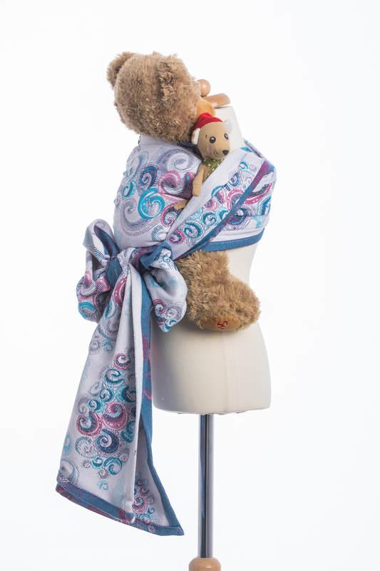 Doll Sling, Jacquard Weave, 100% cotton - HIGH TIDE #babywearing
