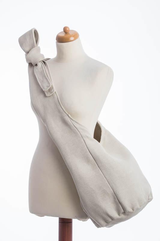 Hobo Bag made of woven fabric, 60% cotton, 40% linen- LITTLE HERRINGBONE NATURE #babywearing