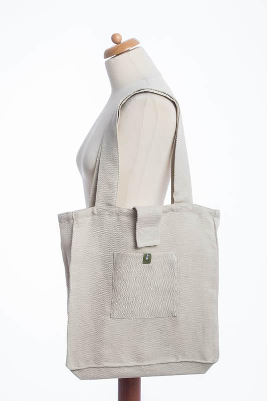 Shoulder bag made of wrap fabric (60% cotton, 40% linen) - LITTLE HERRINGBONE NATURE - standard size 37cmx37cm #babywearing